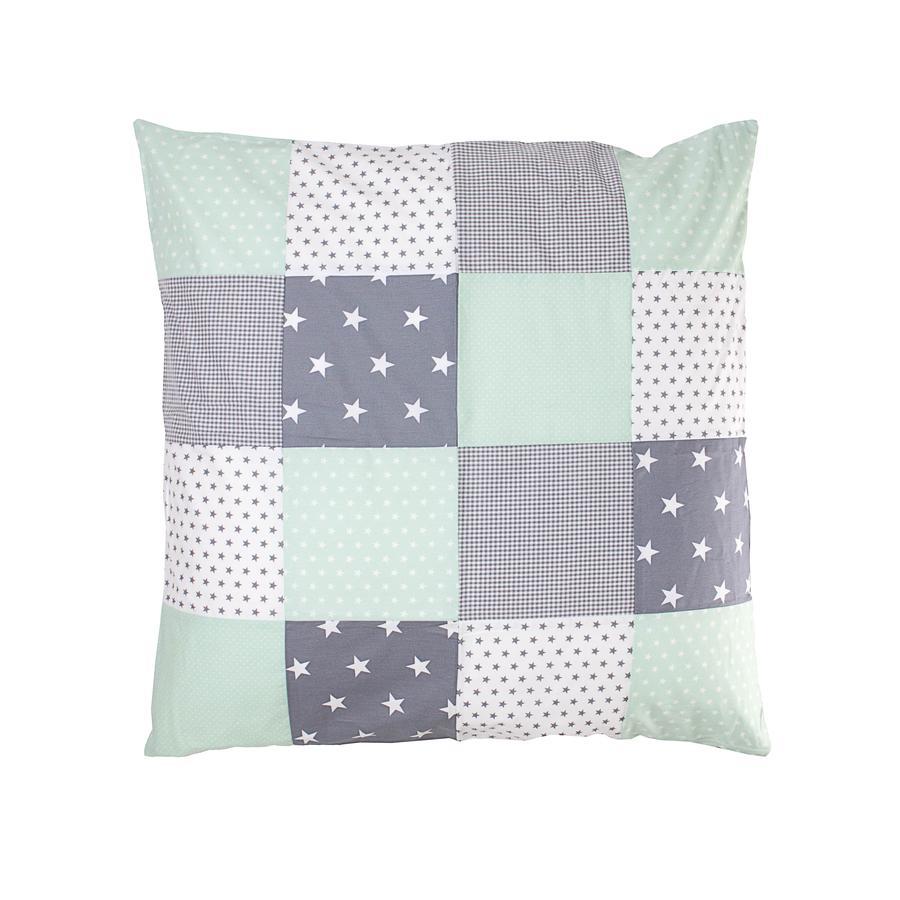Ullenboom Patch rivestimento cuscino di lavoro 80 x 80 cm Mint grigio