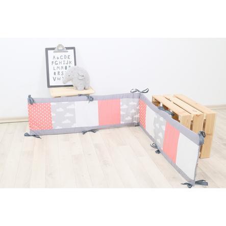 Ullenboom Patchwork-lek til legetæpper 100x100 cm Koralskyer (200 cm)