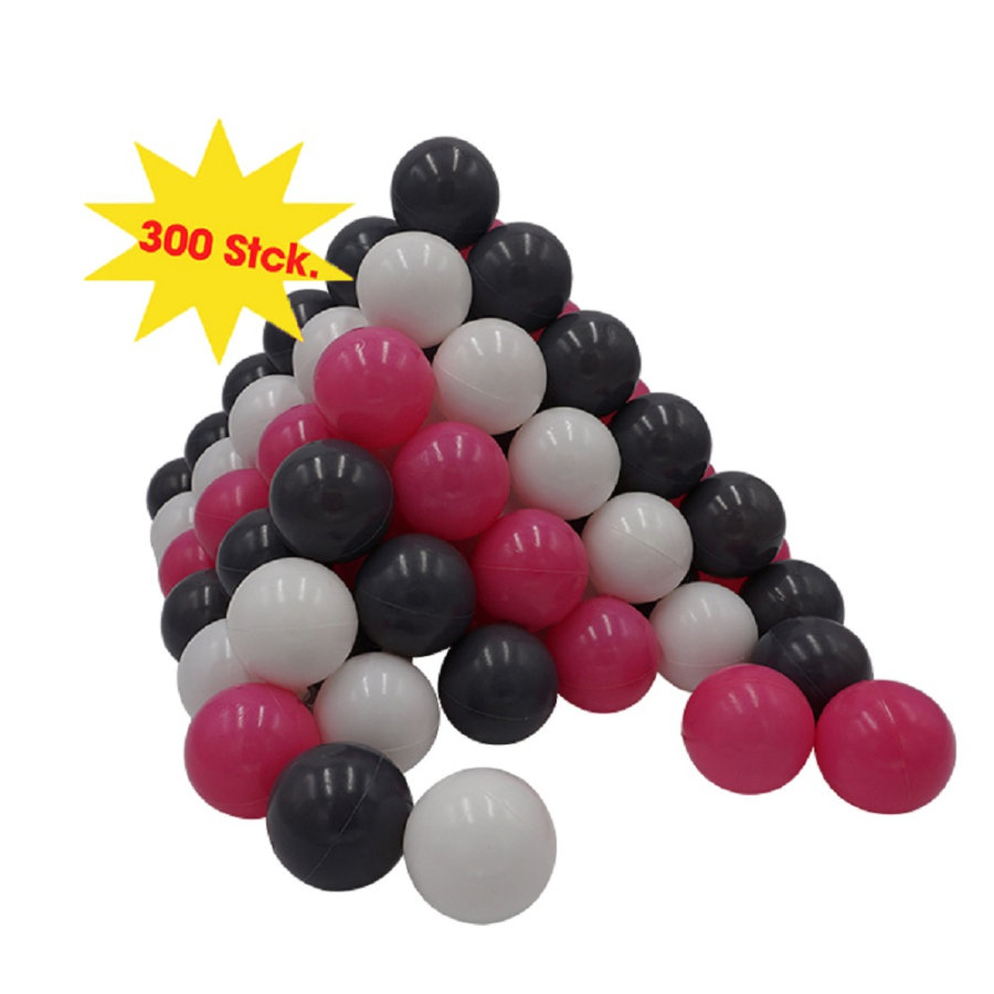 knorr® toys Ballenset Ø6cm - 300 stuks creme grey roze