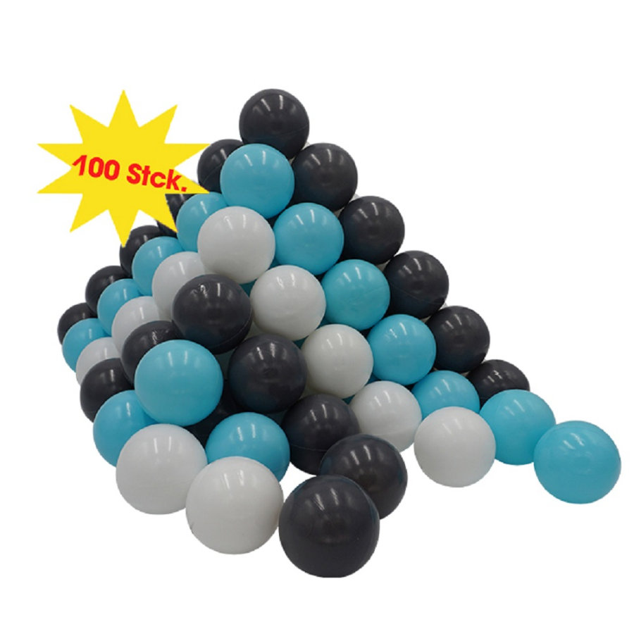 knorr® toys Bälleset Ø 6 cm - 100 Bälle creme, grey, light blue
