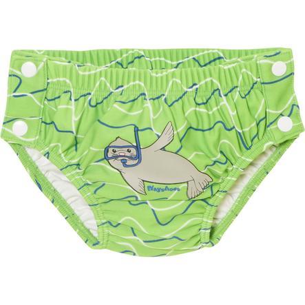 Playshoes Pantalon de bain à langer avec protection contre les UV bouton d'étanchéité bleu