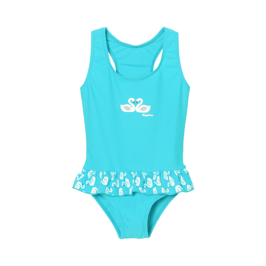 Playshoes UV-beschermende zwemkleding zwanen turquoise