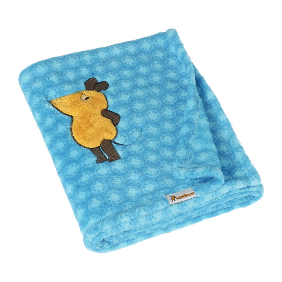 Play shoes Coperta in pile 75x100cm Il mouse blu
