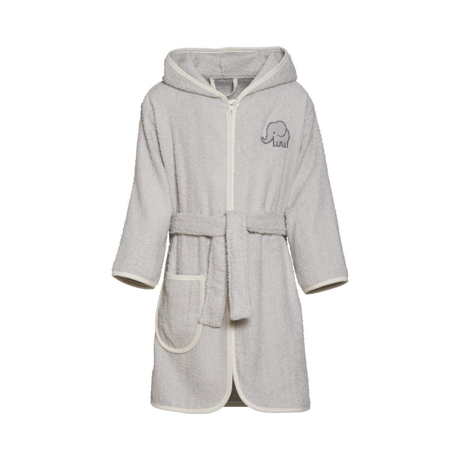 Playshoes Frotte-Bademantel Elefant grau