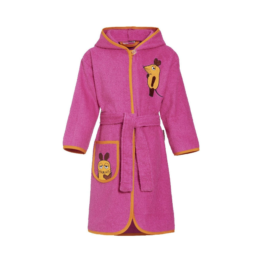Playshoes Frotte-Bademantel Die Maus pink