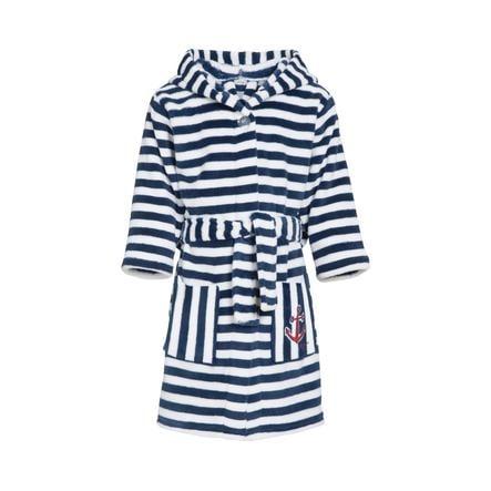 Playshoes Fleece badjas strepen maritim