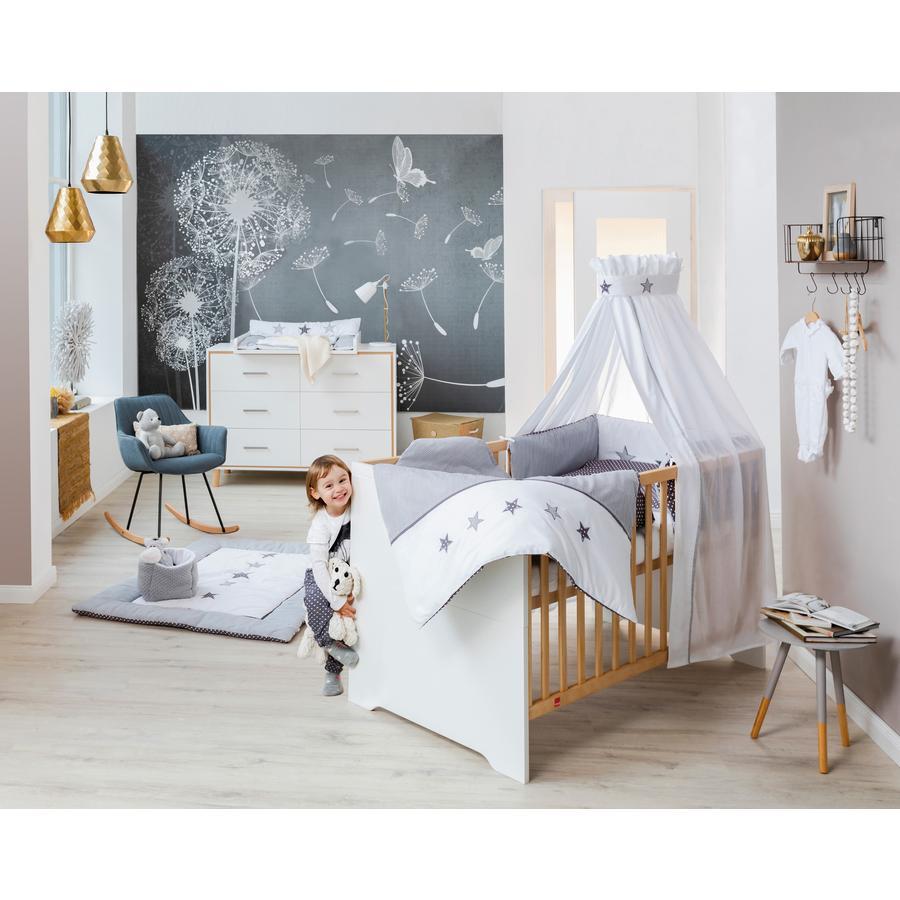 Schardt Ensemble lit bébé commode à langer Coco White 70x140 cm