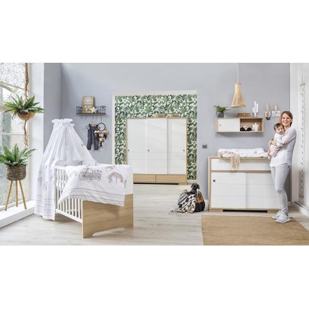 Schardt Ensemble lit bébé armoire 3 portes commode Slide Oak