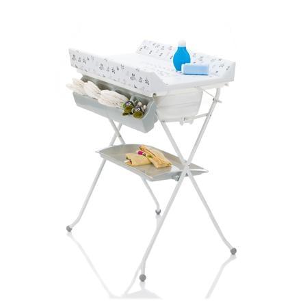 fillikid Combi table à langer bain pliable girafe blanc