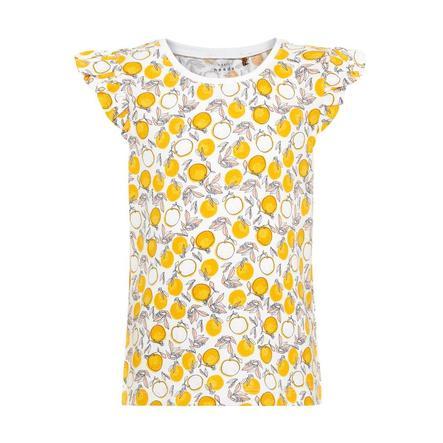 name it Girl s T-Shirt Vigitte jasnobiała, jaskrawo-biała.