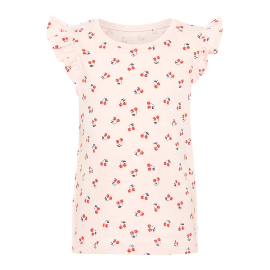 name it Girls T-Shirt Vigitte strawberry cream