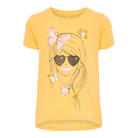 name it Girls T-Shirt Violet Pale Mariegold