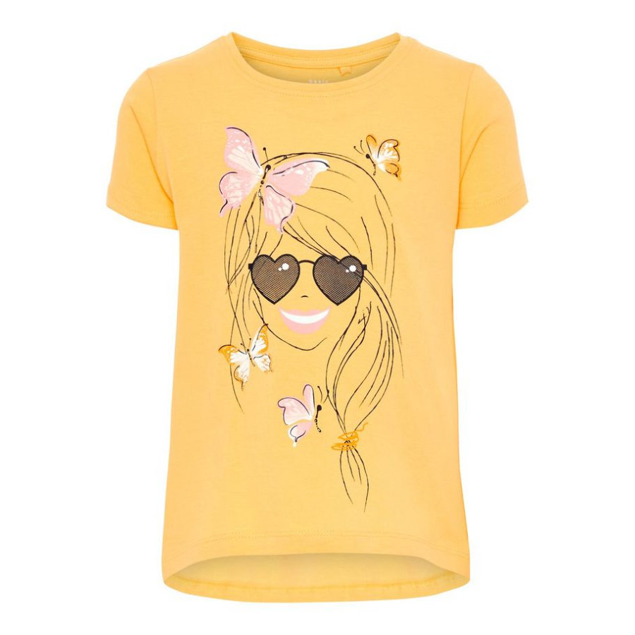 name it Girl s T-Shirt Violet Pale Mariegold.