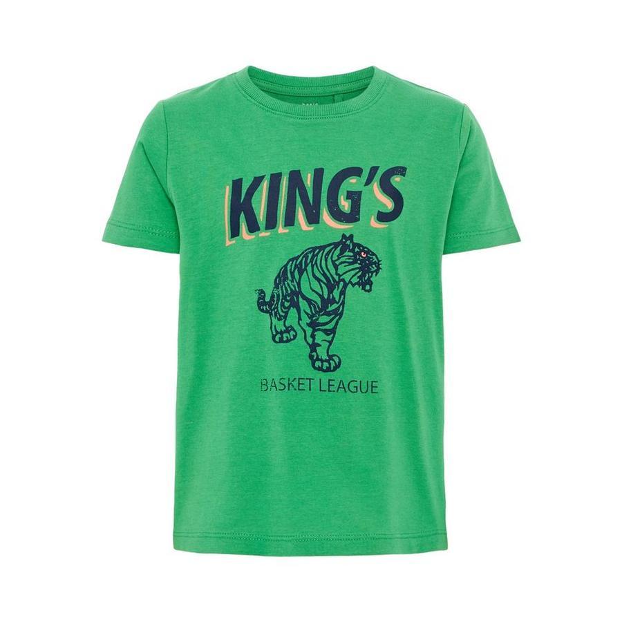 name it Boys T-Shirt Vagno Green Sheen