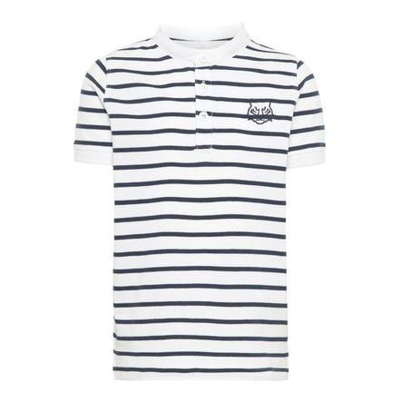 name it Boys Poloshirt Vallo mit Streifen Bright White