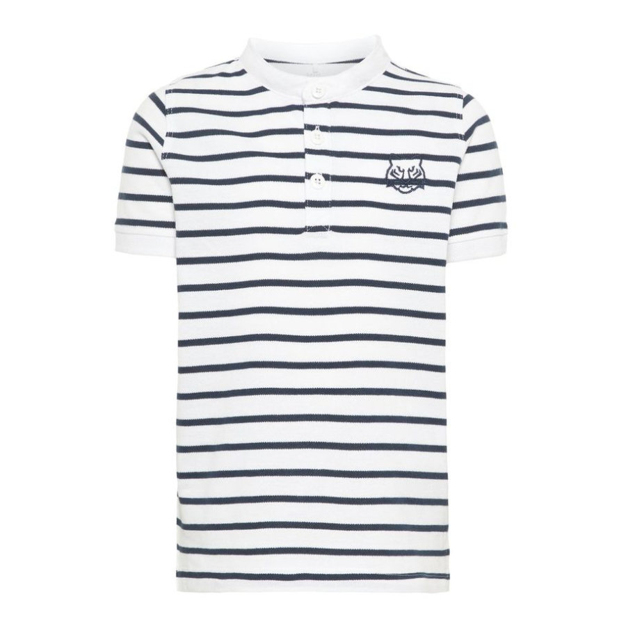 name it Boys Polo Vallo con rayas Blanco Brillante