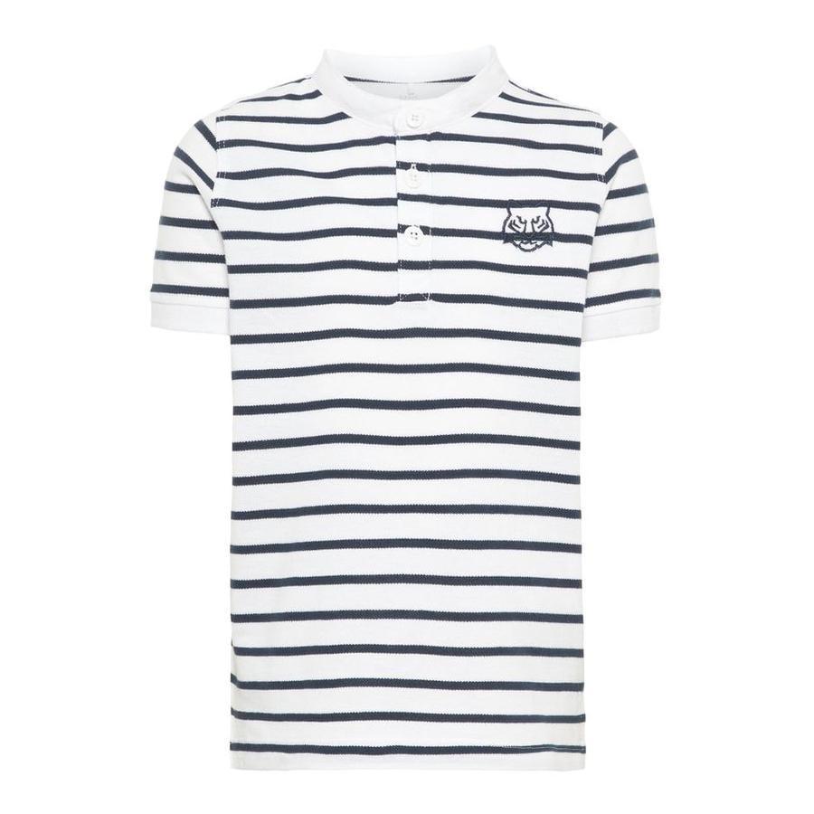 name it Boys Poloshirt Vallo avec rayures Blanc vif