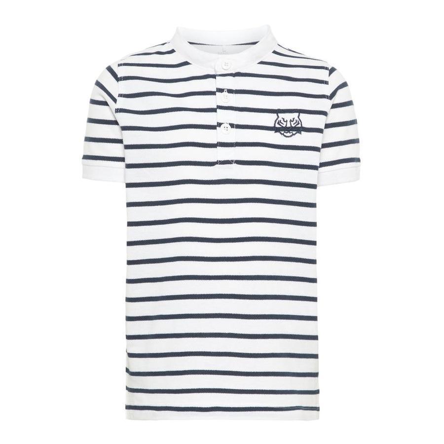 name it Boys Poloshirt Vallo con strisce Bianco brillante
