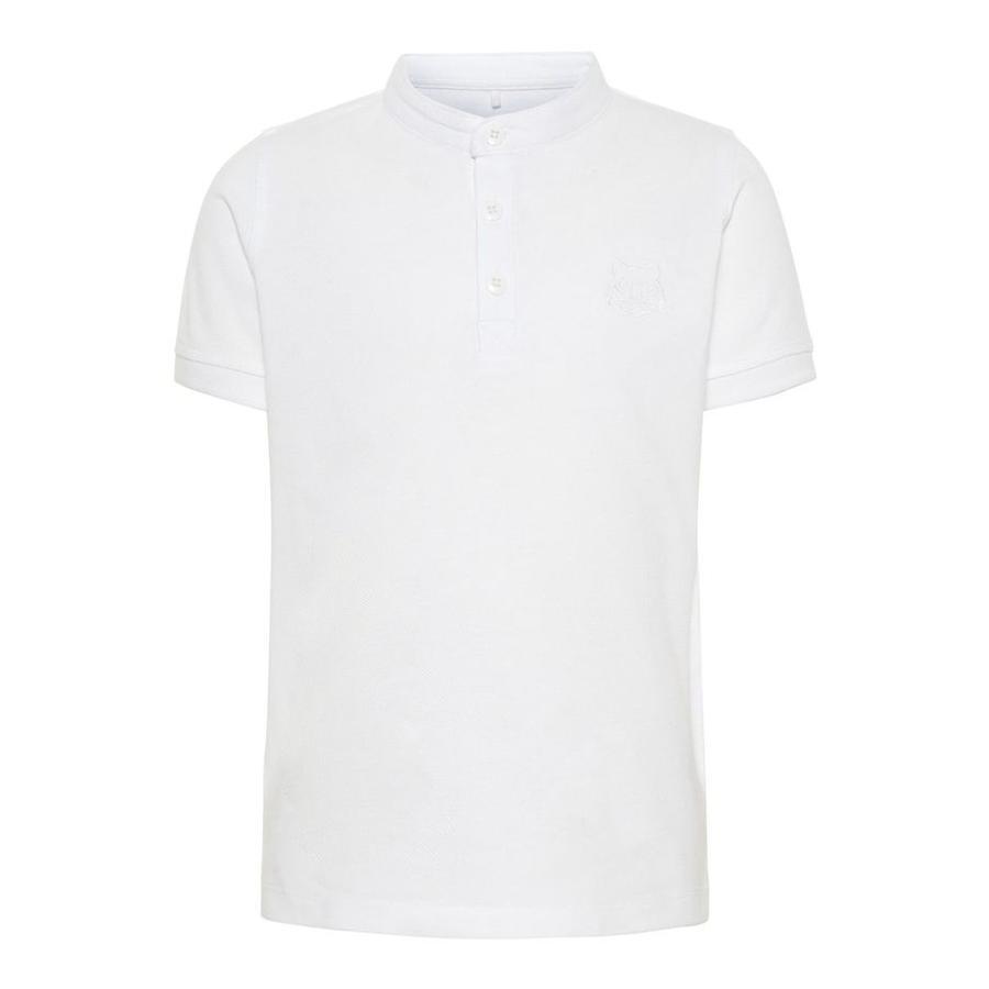 name it Boys Poloshirt Vallo Blanc Brillant