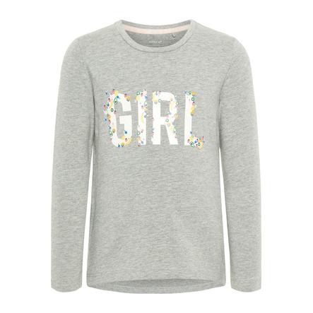 name it Girl s camisa de manga larga Debitte Grey Melange