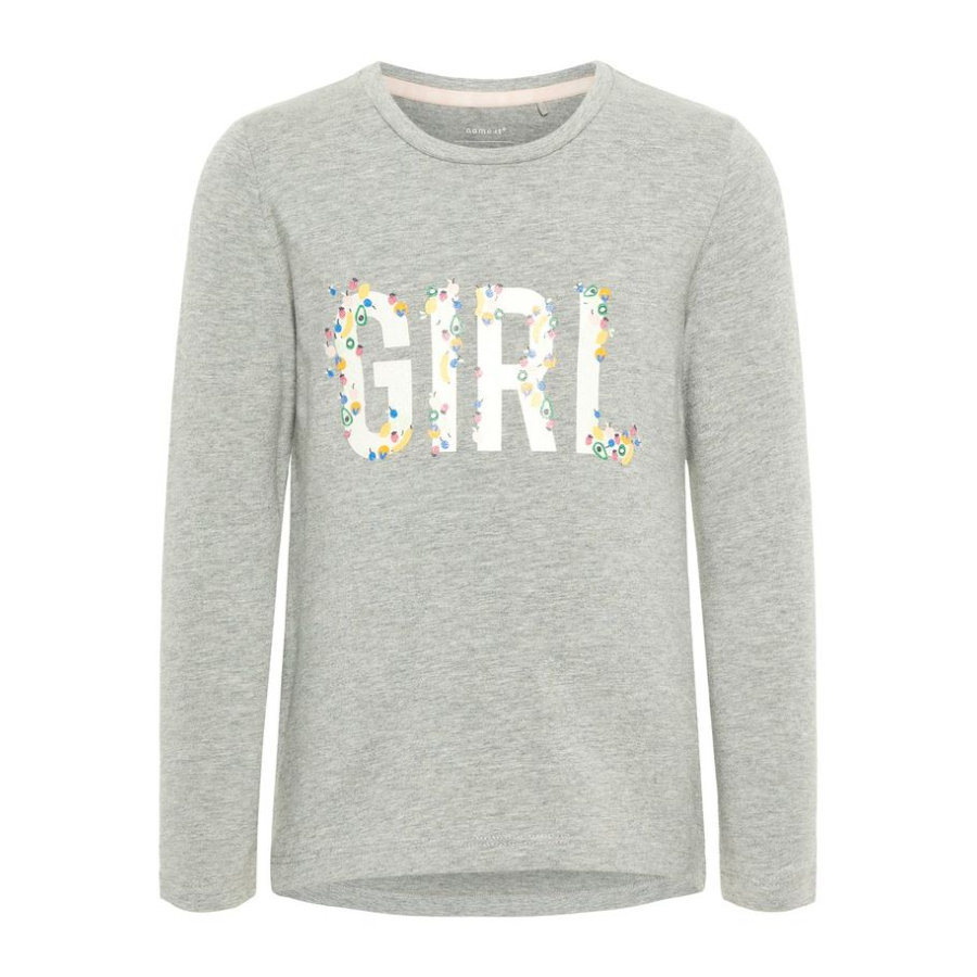 name it Girl koszula z długim rękawem Debitte Grey Melange