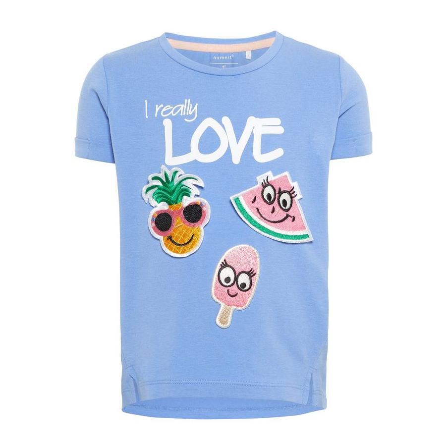 name it T-Shirt Defood Blue Bonnet