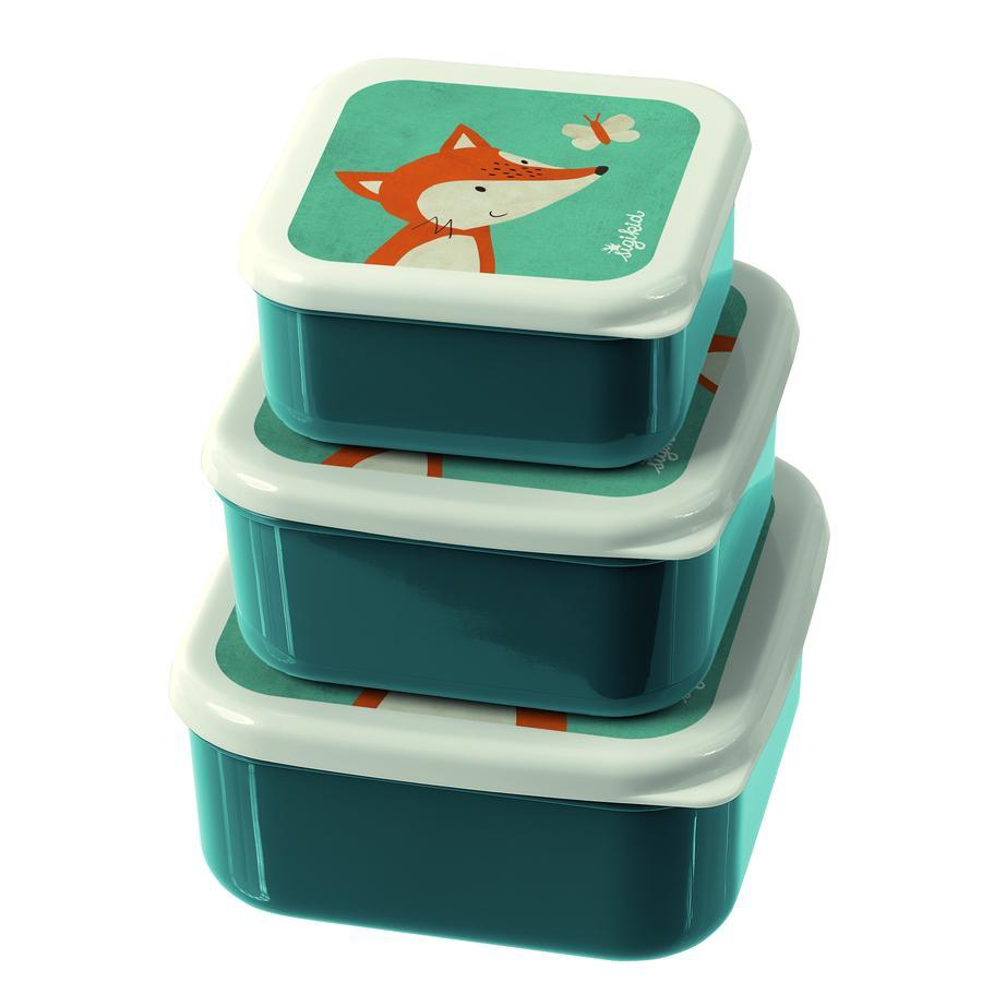 sigikid Cajas de snacks set de 3 zorros