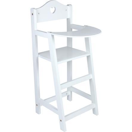 small foot® Chaise haute pour poupée, blanc