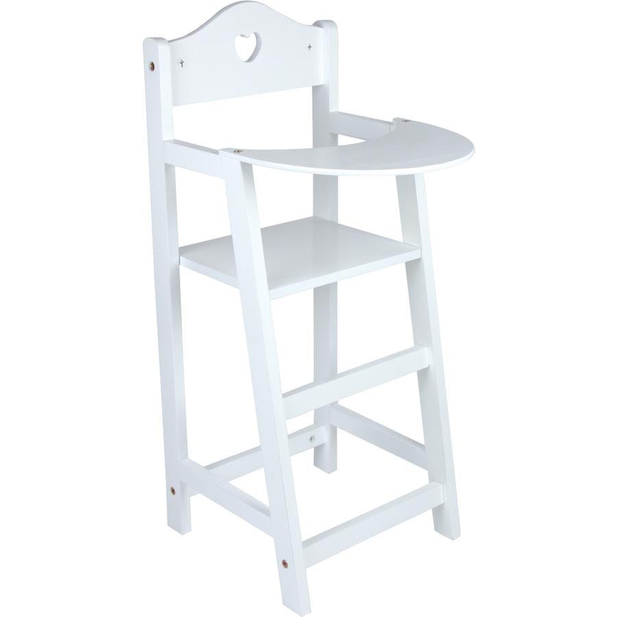 LEGLER Jídelní židlicka pro panenky, bílá