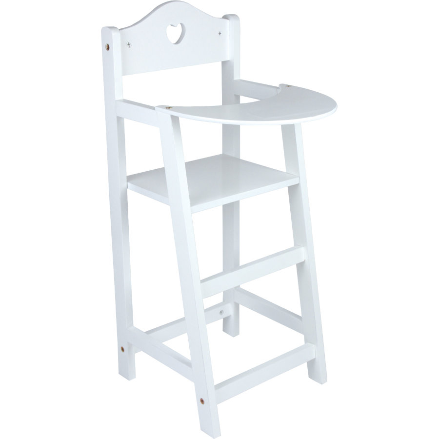 small foot® Krzesełko do karmienia dla lalek, kolor biały