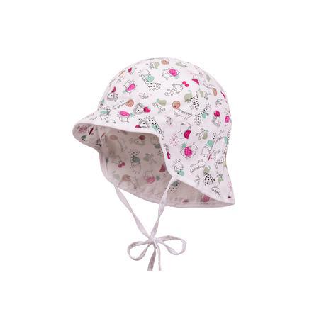 maximo tyttöjen S lasten hattu pienille eläimille valkoinen-tummanpunainen