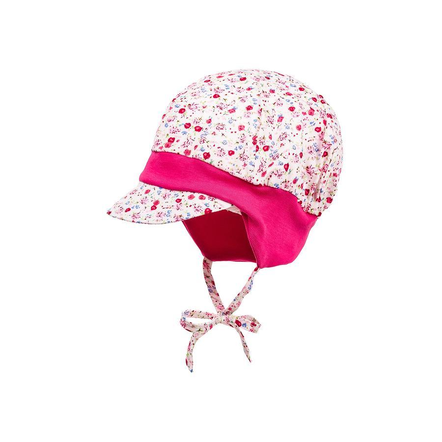maximo Girls Ballomütze Blumen sun-pink