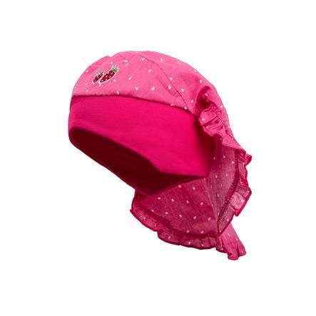 maximo Girls Kopftuch Tropfen pink rose-weiss