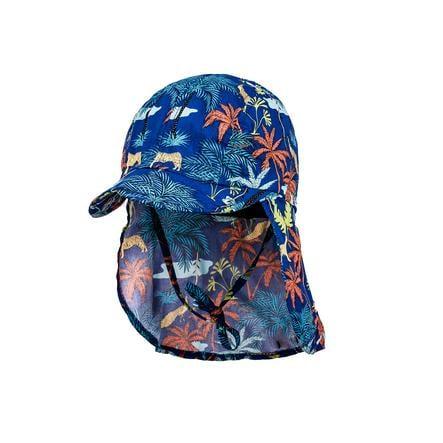 maximo Boys Shield Cap Palms echt blauw terracotta