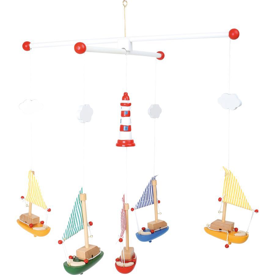 small foot® Mobile Segelboote mit Leuchtturm