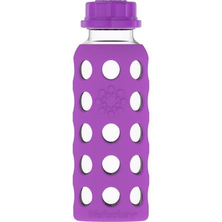 LIFEFACTORY Gourde enfant verre grape 250 ml