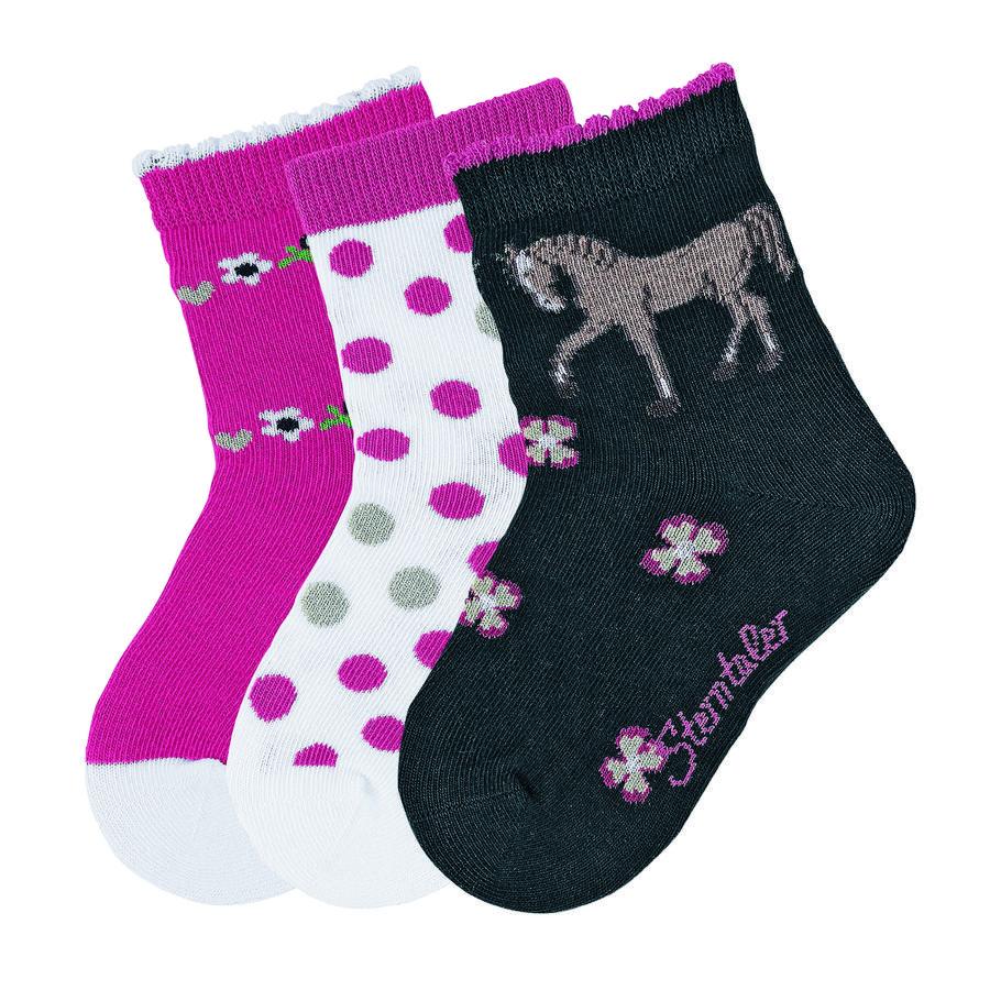 Sterntaler Girl s Sokken 3-pack 3-pack paardenmarine