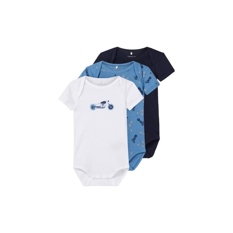name it Boys Body 3er Pack parisian blue