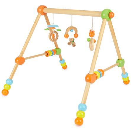 BIECO hoogteverstelbare houten baby gym
