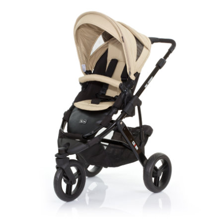 ABC DESIGN Kinderwagen Cobra desert Gestell black / black