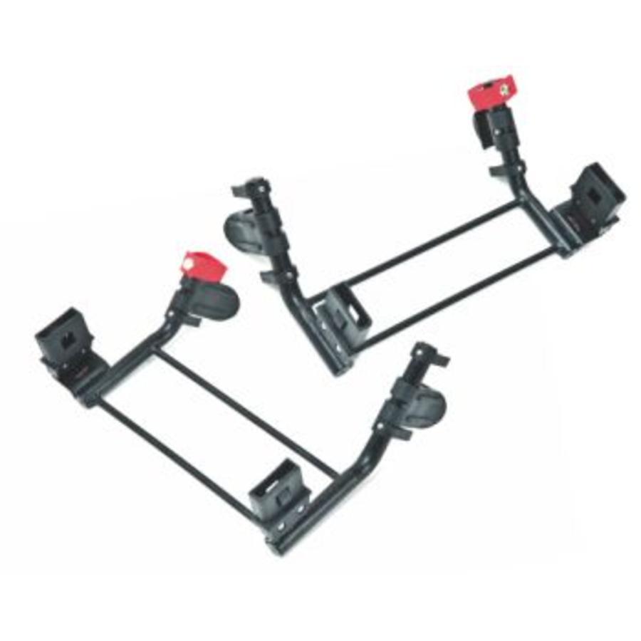 tfk Adapter Twin Trail 2 - Dubbel - Groep 0 - zwart
