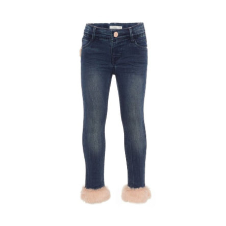 name it Girl s Jeans Nmfpolly, ciemnoniebieski denim.