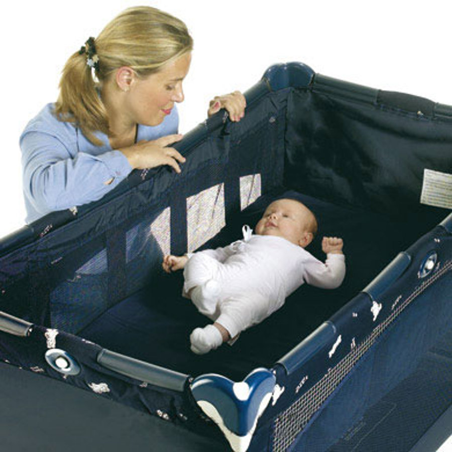 CHICCO Travel Bed / Cot Bassinet Blue incl. Transport Bag