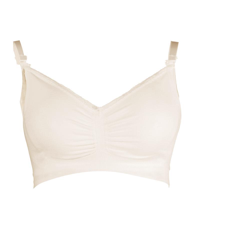 CARRIWELL Soutien-gorge d'allaitement, sans coutures, coton, blanc