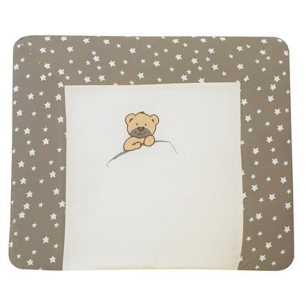 Alvi Wickelauflage mit Bezug, Little Bear beige 70 x 85 cm