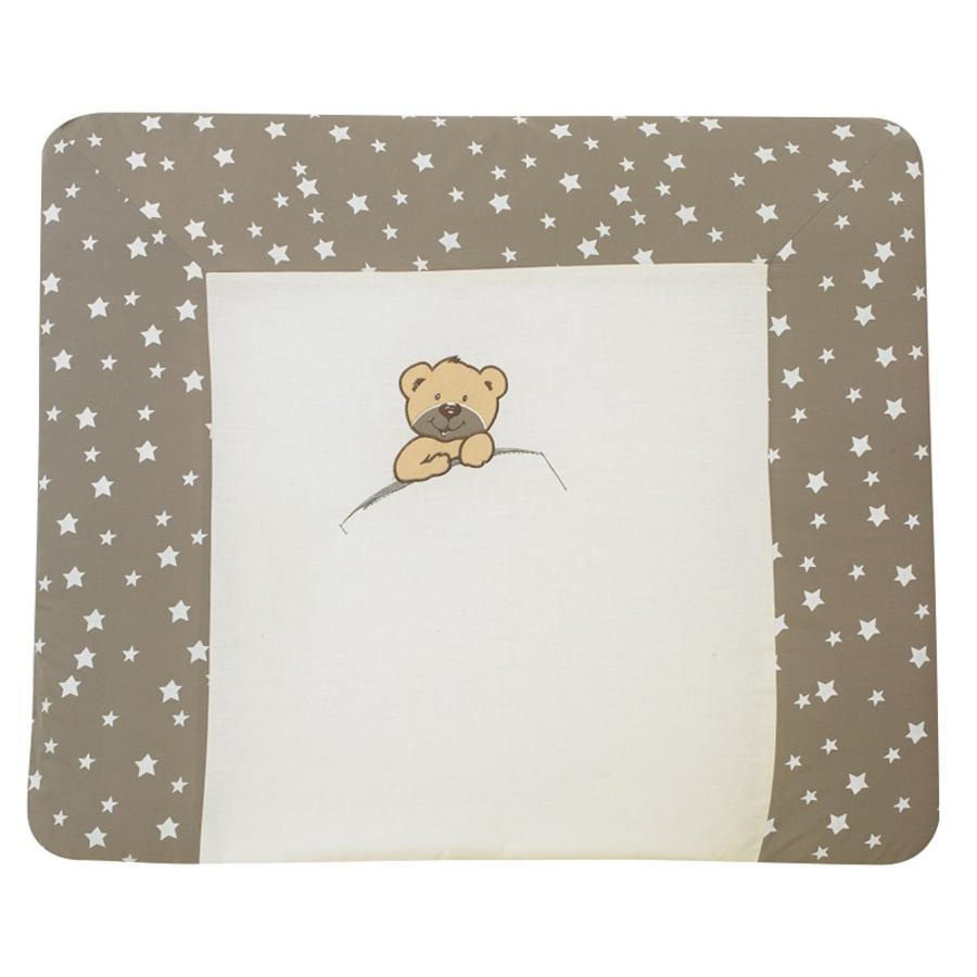 Alvi Wickelauflage mit Bezug, Little Bear beige 85 x 70 cm