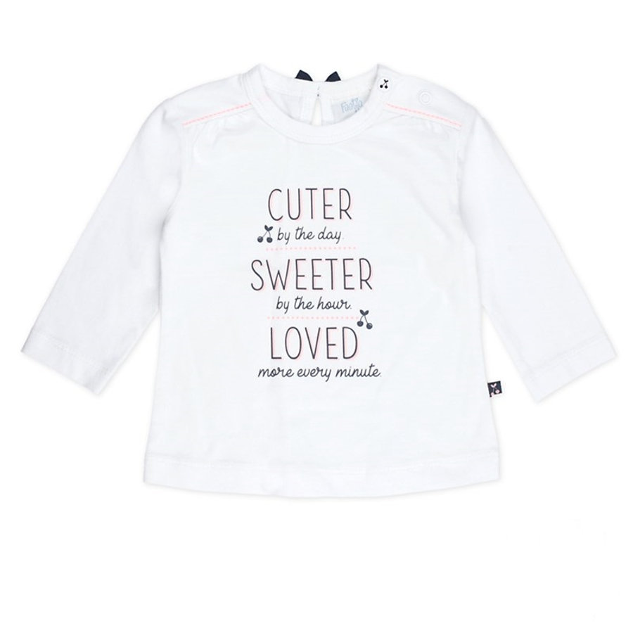 Feetje Chemise manches longues cuter sweet sweeteter Cherry sweet white