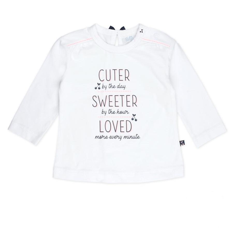 Feetje Koszula z długim rękawem słodsza słodsza Wiśnia słodka biała