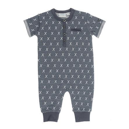 Feetje pyžamo Smile krátký rukáv antracitový vzor