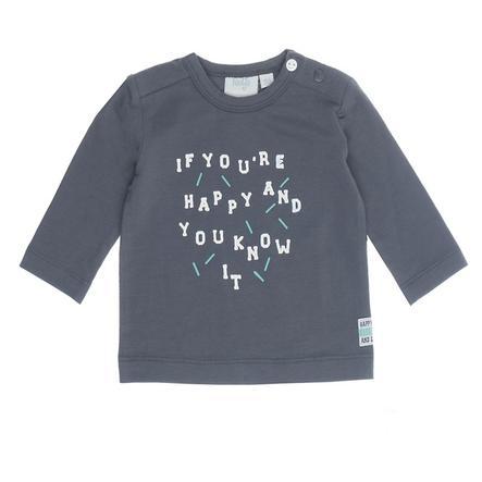 Feetje Shirt met lange mouwen, je bent blij met je glimlach antraciet.
